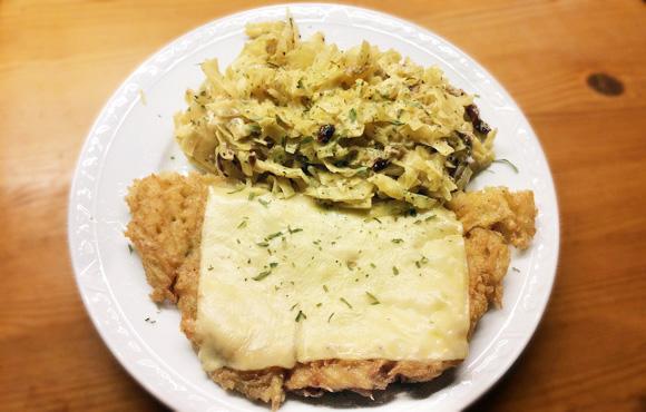aardappel rosti recept zoet-zure witte kool Vegetarisch Weekmenu