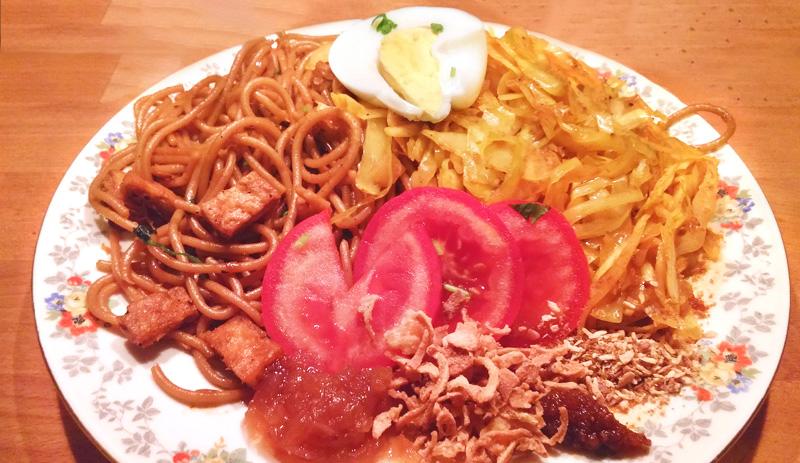 Bami Surinaamse recept massala witte kool Vegetarisch Weekmenu