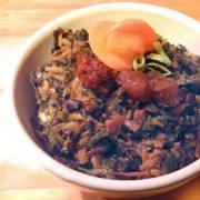Boerenkool met zwarte bonen gerecht Nationale week zonder vlees Vegetarisch Weekmenu