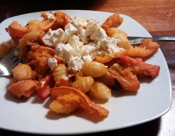 Flespompoen, paprika groenten uit de oven recept Vegetarisch Weekmenu