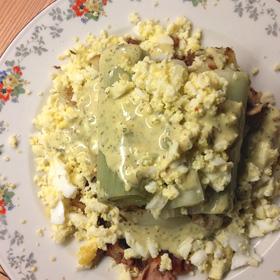 Gebakken aardappelen gestoofde prei dragon vinaigrette recept Vegetarisch Weekmenu