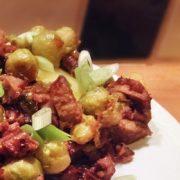 Spruitjes met gemarineerde wok-reepjes Kerst hoofdgerecht recepten Vegetarisch Weekmenu