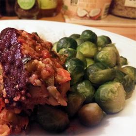 Groentebrood recept. Hoofdgerecht met linzen, paprika courgette Vegetarisch Weekmenu