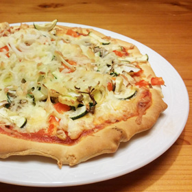 Home made vegetarische groente pizza recept Vegetarisch Weekmenu