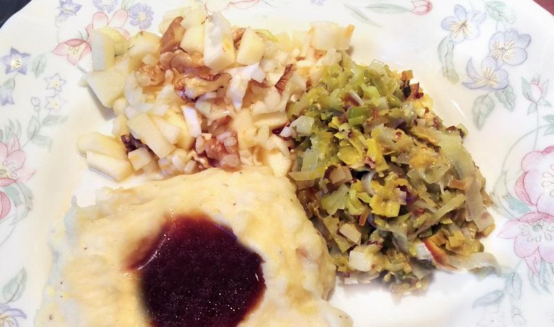 Prei recept van vroeger venkelsalade aardappelpuree Vegetarisch Weekmenu