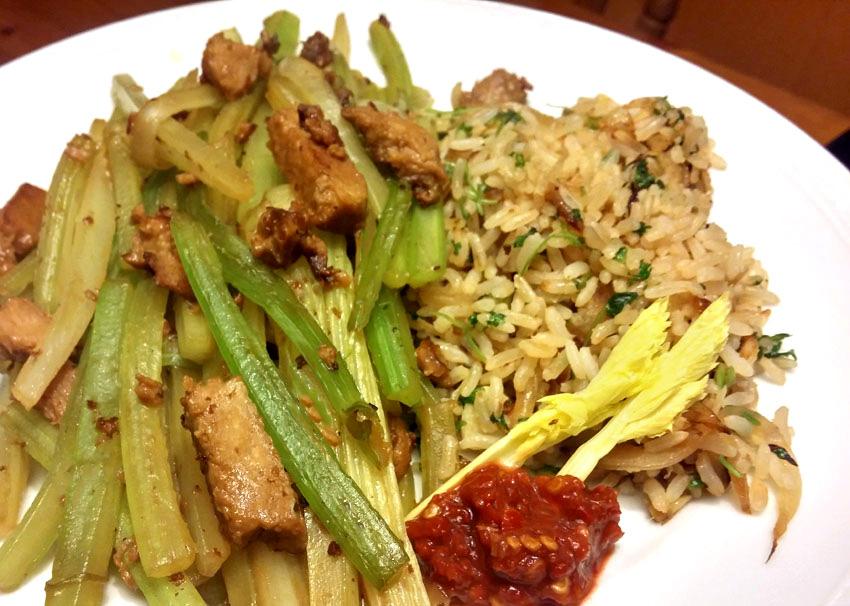Bleekselderij stokjes recept selderij rijst vegetarisch weekmenu