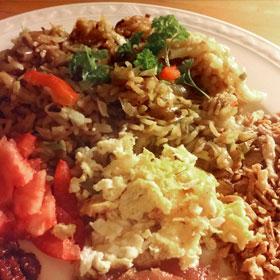 Nasi met ei recept voedsel verspilling tegengaan Vegetarisch Weekmenu