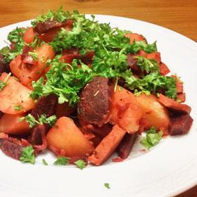 rode bieten aardappelen recept lente vegetarisch weekmenu