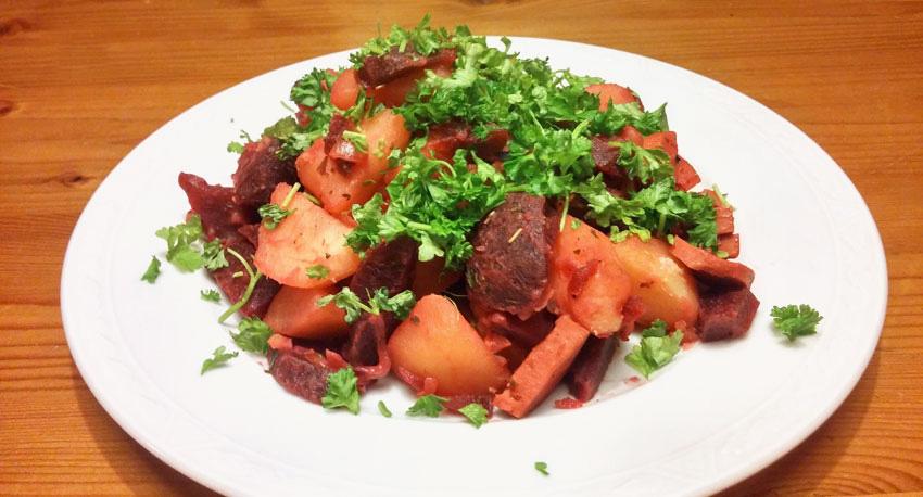 rode bieten aardappelen hoofdgerecht lente vegetarisch weekmenu