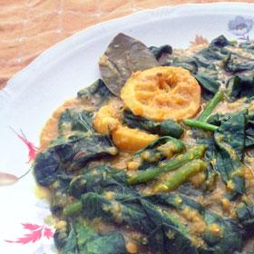 spinazie met rode linzen hoofdgerecht lente vegetarisch weekmenu