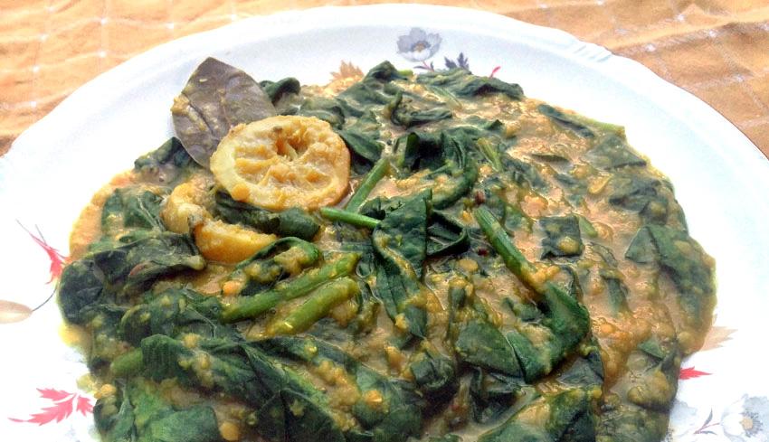 spinazie met rode linzen recept lente vegetarisch weekmenu