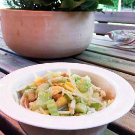 Bleekselderie salade recept vegetarisch Onnita's maaltijdsalade lunch BBQ