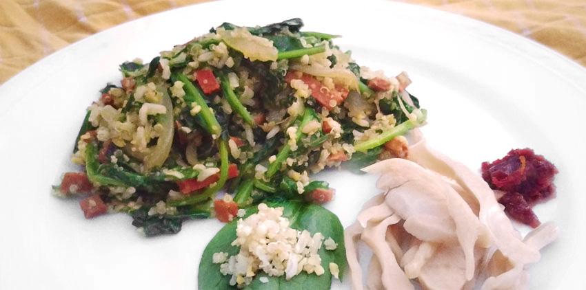 Incagranen met spinazie recept Vegetarisch Weekmenu
