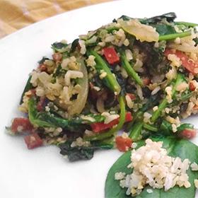 Incagranen met spinazie recept zilvervlies rijst quinoa amarant bulgur