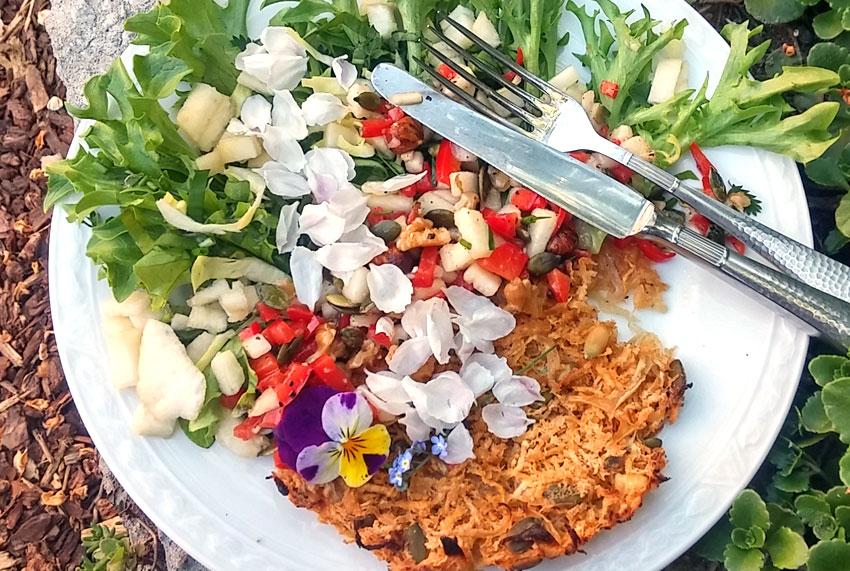 Koolraap 2 in 1 recept bloemen op je bord pluktuin kruiden wildpluk Vegetarisch Weekmenu