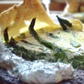 Mini groene asperge taart recept oven koken in bladerdeeg klaarmaken Vegetarisch Weekmenu