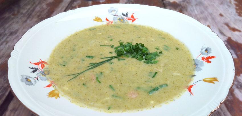 Romige broccoli soep recepten hoofdmaaltijd Vegetarisch Weekmenu