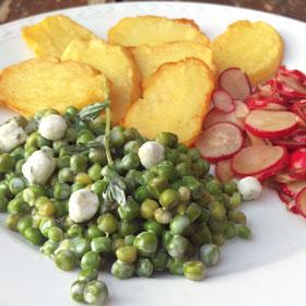 Romige doperwten koken bonenkruid radijssalade recepten hoofdgerecht Vegetarisch Weekmenu
