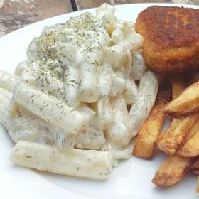 Romige schorseneren vivera schnitzel zelf friet maken recept hoofdgerecht Vegetarisch Weekmenu