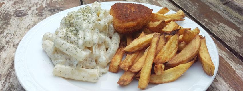 Romige schorseneren vleesvervanger schnitzel zelf friet maken recepten hoofdmaaltijd Vegetarisch Weekmenu