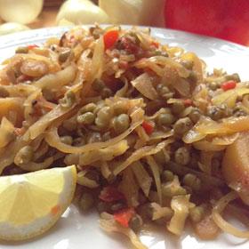 Witte kool mungbonen gewokte roerbakken koken wewv Vegetarisch Weekmenu