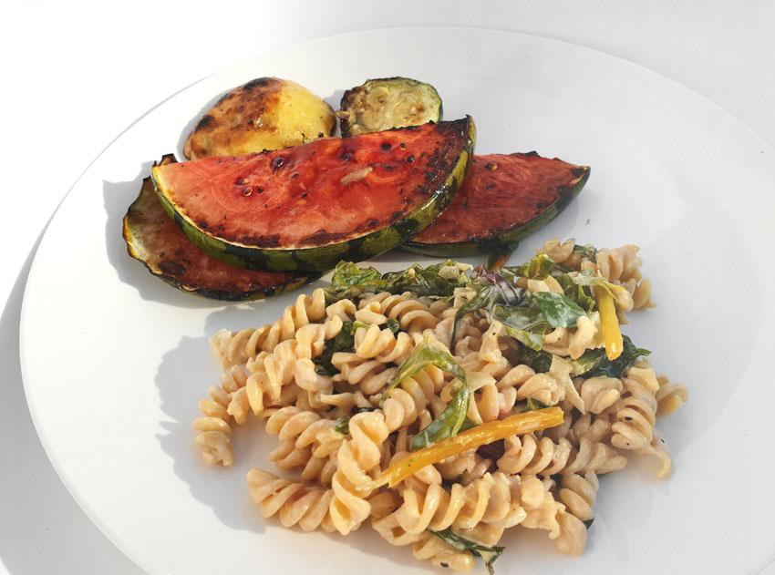 BBQ salade kikkererwten pasta watermeloen steak Vegetarisch Weekmenu