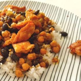 Bonenmix Vivera plantaardige kipstukjes recept linzen curry Vegetarisch Weekmenu