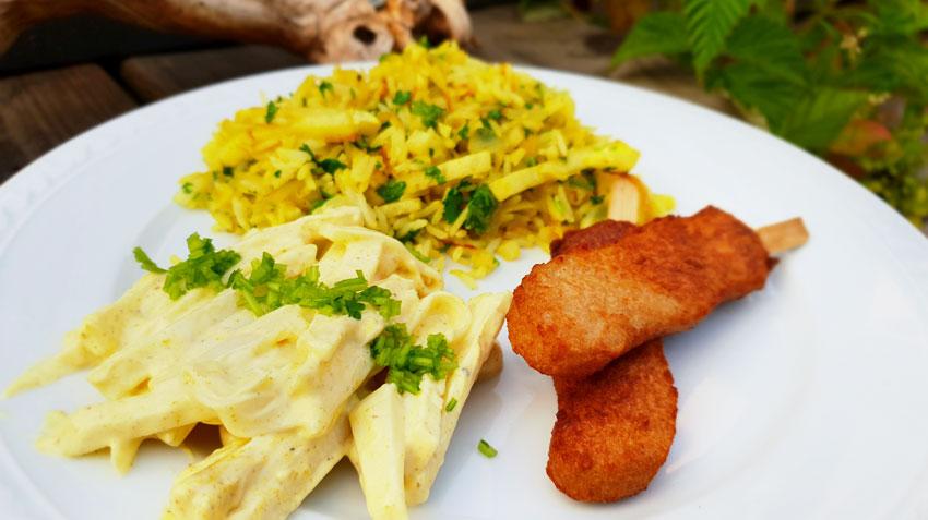 Koolrabi salade recept kerrie rijst vleesvervangers Vegetarisch Weekmenu