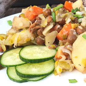 Veldertjes stoof wat eten we vandaag snel recept vegan Vegetarisch Weekmenu