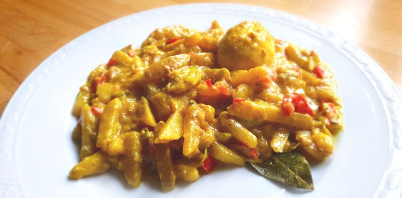 Romige aardappel stoof met prei en paprika recept Vegetarisch Weekmenu