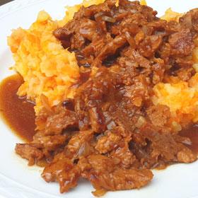 Seitan hachee recept klassieke vegetarische hutspot Vegetarisch Weekmenu