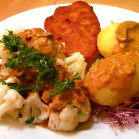 Bloemkool met jachtsaus recept herfst hoofdgerecht Vegetarisch Weekmenu