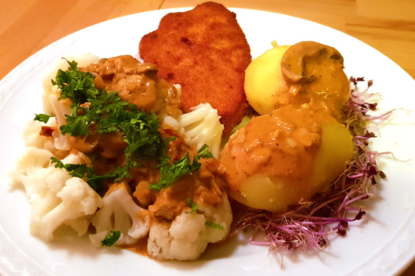 Bloemkool met jachtsaus recept wewv Vegetarisch Weekmenu