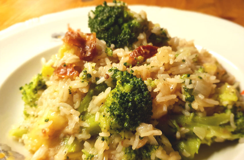 Broccoli risotto zongedroogde tomaten recept vegetarisch weekmenu