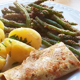 Krokante sperziebonen recepten gekruid ei wewv Vegetarisch Weekmenu