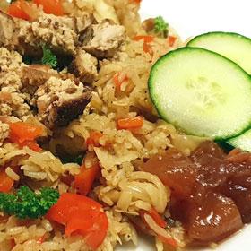 rode-paprika-rijst vegan snel recept Vegetarisch Weekmenu