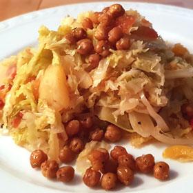 Savooiekool stoof recept stoofpot kikkererwten vegan vegetarisch weekmenu