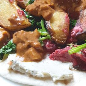 Vegetarische wraps recept rode bietenhummus avondeten Weekmenu