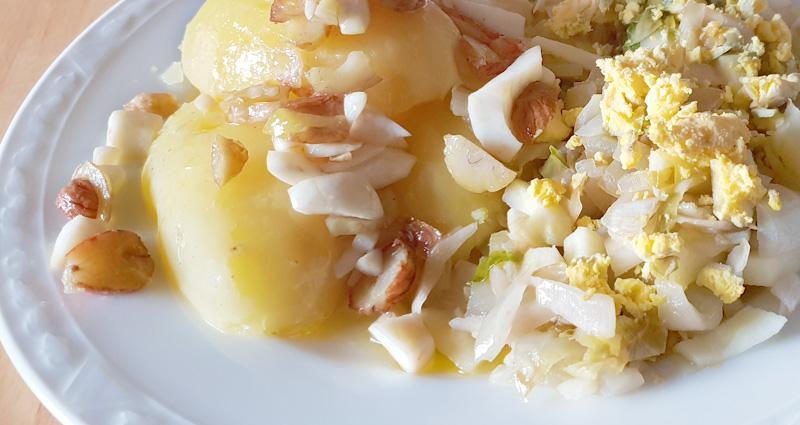 Zoete witlof recept koken tamme kastanjes Vegetarisch Weekmenu