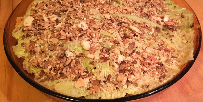 Hartige taart van goenten restjes recept vegetarisch