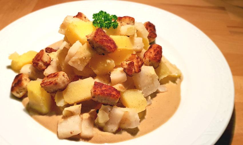 knolselderij recept mosterdsaus quorn hoofdgerecht vegetarisch