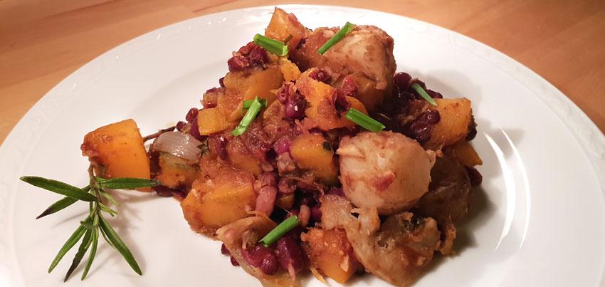 Muskaatpompoen stoofpot recept vegan Vegetarisch Weekmenu