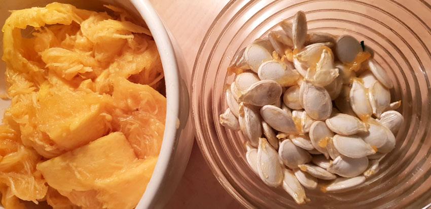 Pompoenpitten drogen eten gezond gezonde snack maken Vegetarisch Weekmenu
