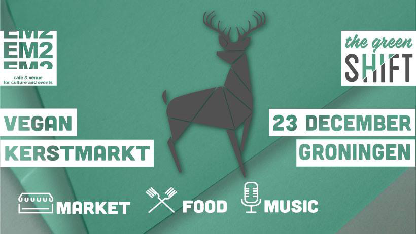 Vegan kerstmarkt 23 december 2018 Groningen EM2 The Green Shift Vegetarisch Weekmenu