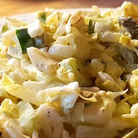 Witlof salade zaterdaghap snelle hap gezond ei Vegetarisch Weekmenu