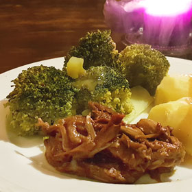 Broccoli recept Uptons Bar-B-Que jackfruit hoofdmaaltijd vegan vegetarisch