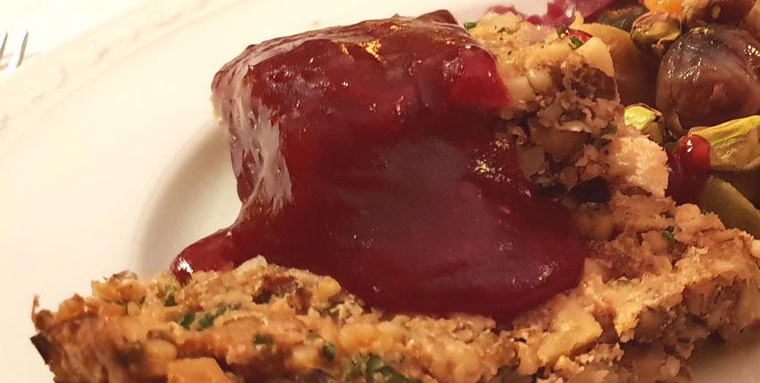cranberry saus veenbessen vegan vegetarisch weekmenu