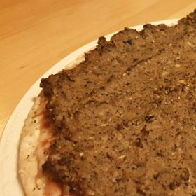Snelle hap pizza met aubergine hoofdgerecht vegan vegetarisch weekmenu