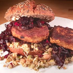 Zaterdaghap burgers vegan burger recept spruitgroenten Vegetarisch-Weekmenu