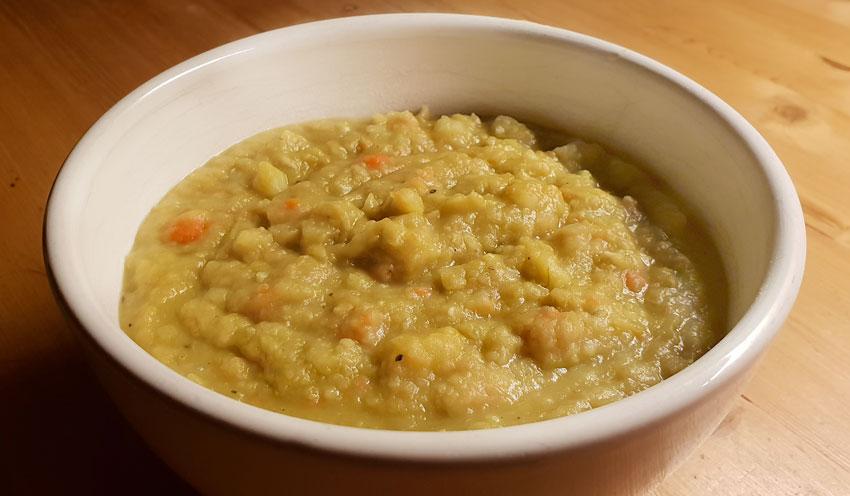 Groene spliterwten soep recept wortel vegan vegetarisch